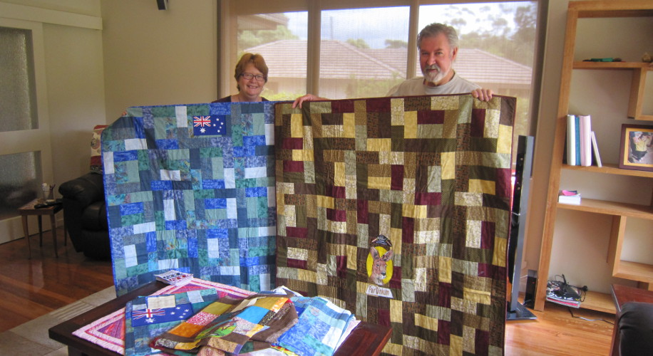 Quilting group has soldiers covered